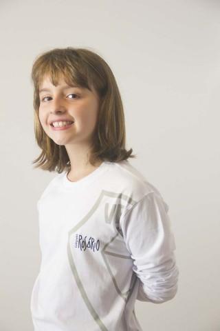 Camiseta Infantil Feminina Manga Longa Rosário