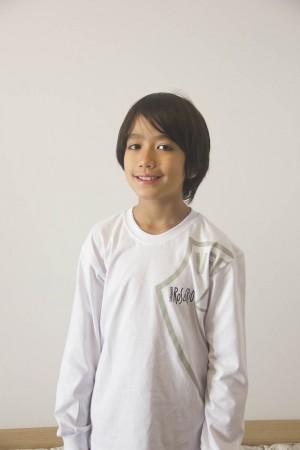 Camiseta Infantil Masculina Manga Longa Rosário