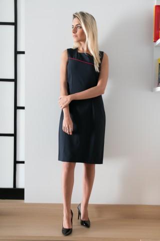 Vestido Tubinho com Viés - Tecido Oxford Bi Strech
